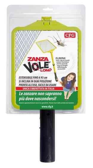CFG Zanza Volé Long - Racchetta Elettrica Ammazza Fulmina Zanzare Estensibile Pieghevole per Soffitto - Z041