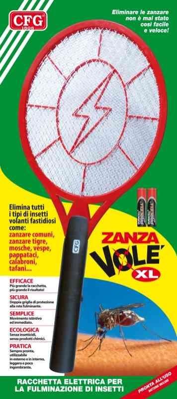 CFG Zanza Volé XL - Racchetta Elettrica Ammazza Fulmina Zanzare - Z040