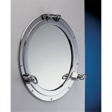 Foresti & Suardi Oblò in Ottone Cromato con Specchio - Ø Diametro 300mm - 2001S.C