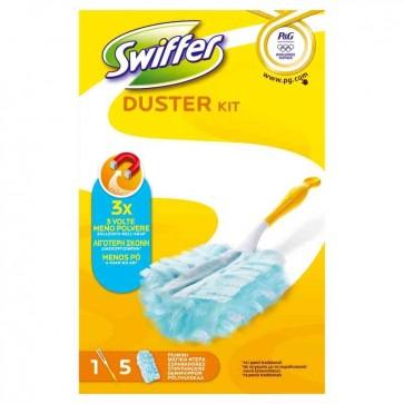 Swiffer Duster Starter Kit + 5 Panni Cattura Polvere per Mobili PG049