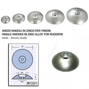 Tecnoseal Anodo Singolo in Zinco a Flangia per Timoni - Ø Diametro 90mm - 00102