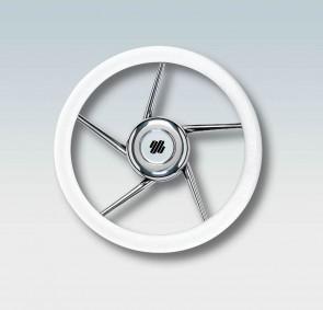 Ultraflex Volante Bianco in Acciaio Inox con Impugnatura in Poliuretano V01W - Ø Diametro 350mm - 41688B